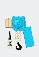 Таль электрическая цепная стационарная на пальцах BB014M, г/п 1000кг, высота подъема 6,4м